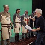 Een exclusieve kijk achter de schermen bij de shoot van Monty Python's 'Spamalot'