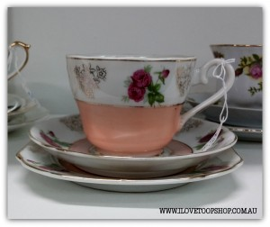 More pretty floral vintage teacups