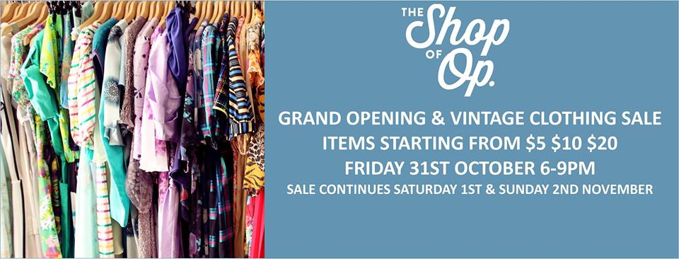 Pop Up Op Shop Grand Opening