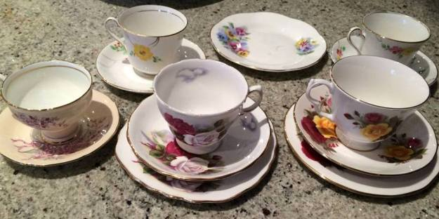 Amanda - Some vintage/vintage style tea cups and trios