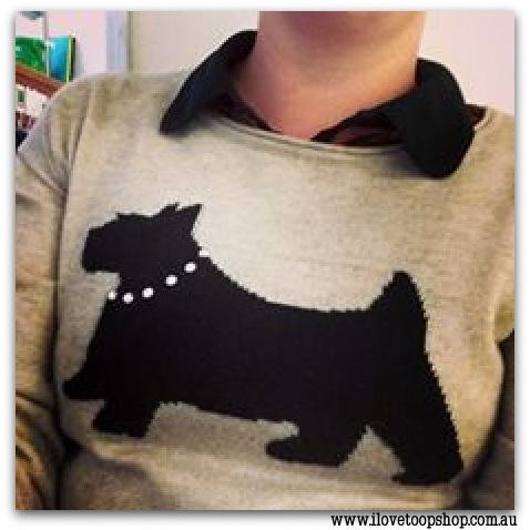 Tegan's cute Scottie dog jumper!