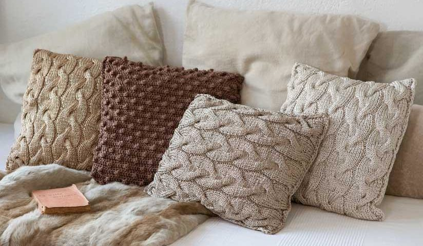 Patron coussin tricot  i love tricot