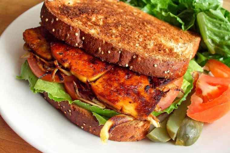 Original smoky maple tofu sandwich image from 2012.
