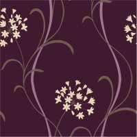 Arthouse Mia Motif Wallpaper Purple / Cream / Beige ...