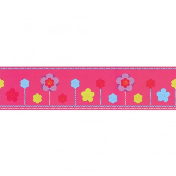 Designer Selection Felt Flowers Self Adhesive Wallpaper