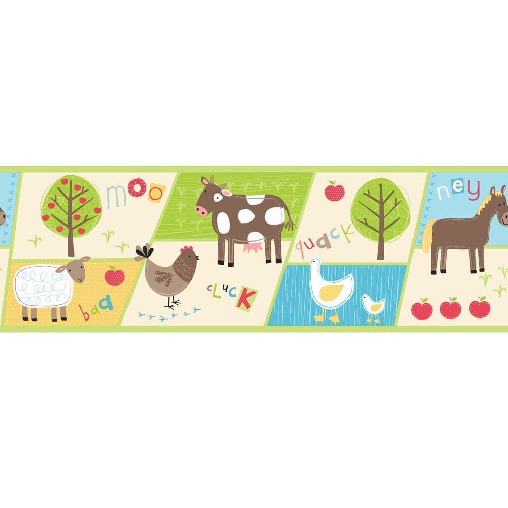 Girl Bedroom Wallpaper Border Buy Fine Decor Farm Animals Hoopla Wallpaper Border Multi