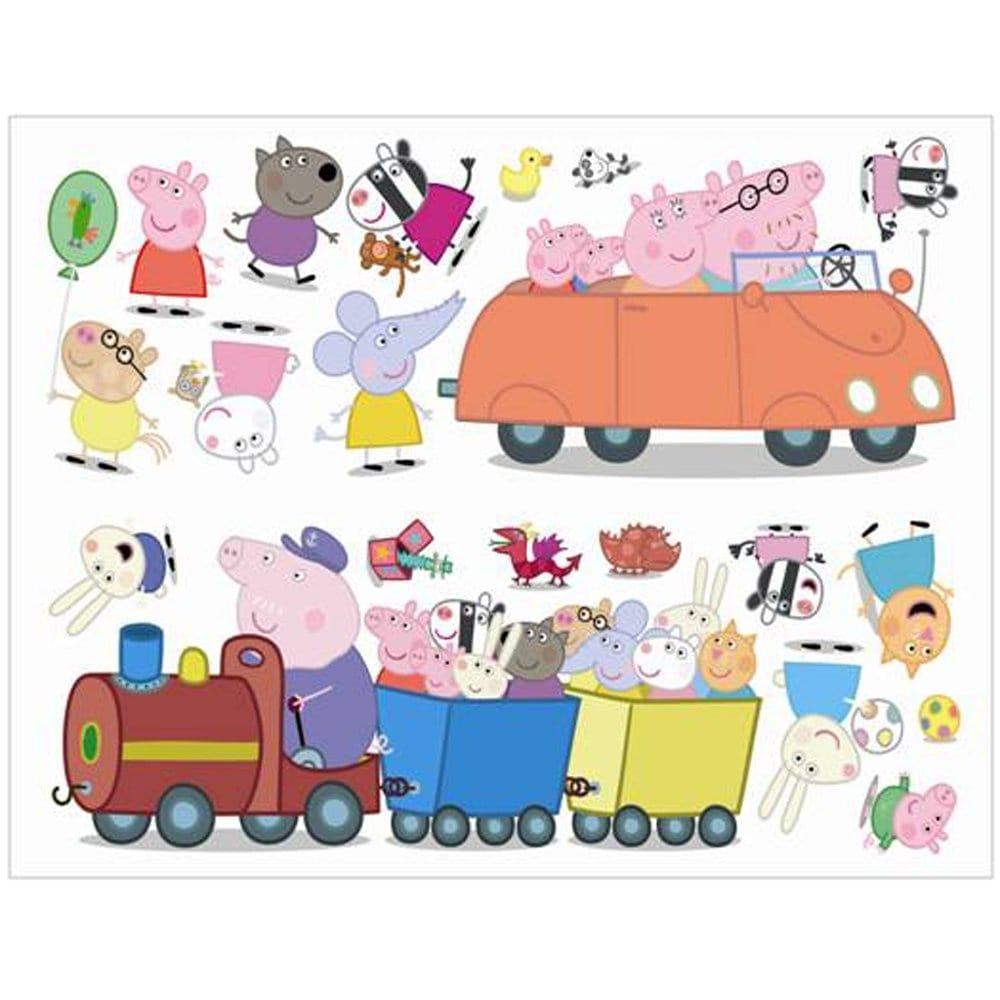 Girls Pink Bedroom Wallpaper Fun4walls Peppa Pig Wall Stickers Stikarounds Sa10506
