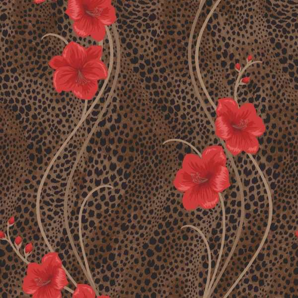 Chocolate Brown and Red Background