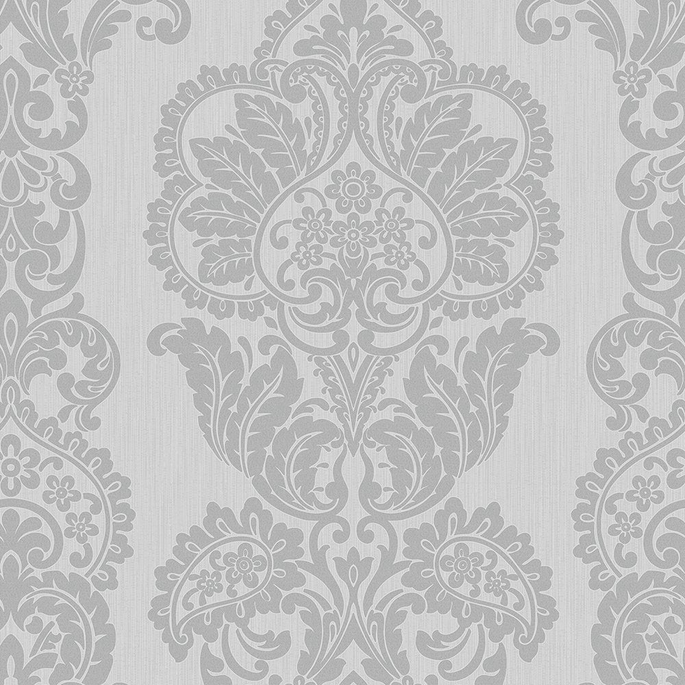 Fine Decor Rochester Damask Textured Glitter Wallpaper