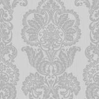 Fine Decor Rochester Damask Textured Glitter Wallpaper ...