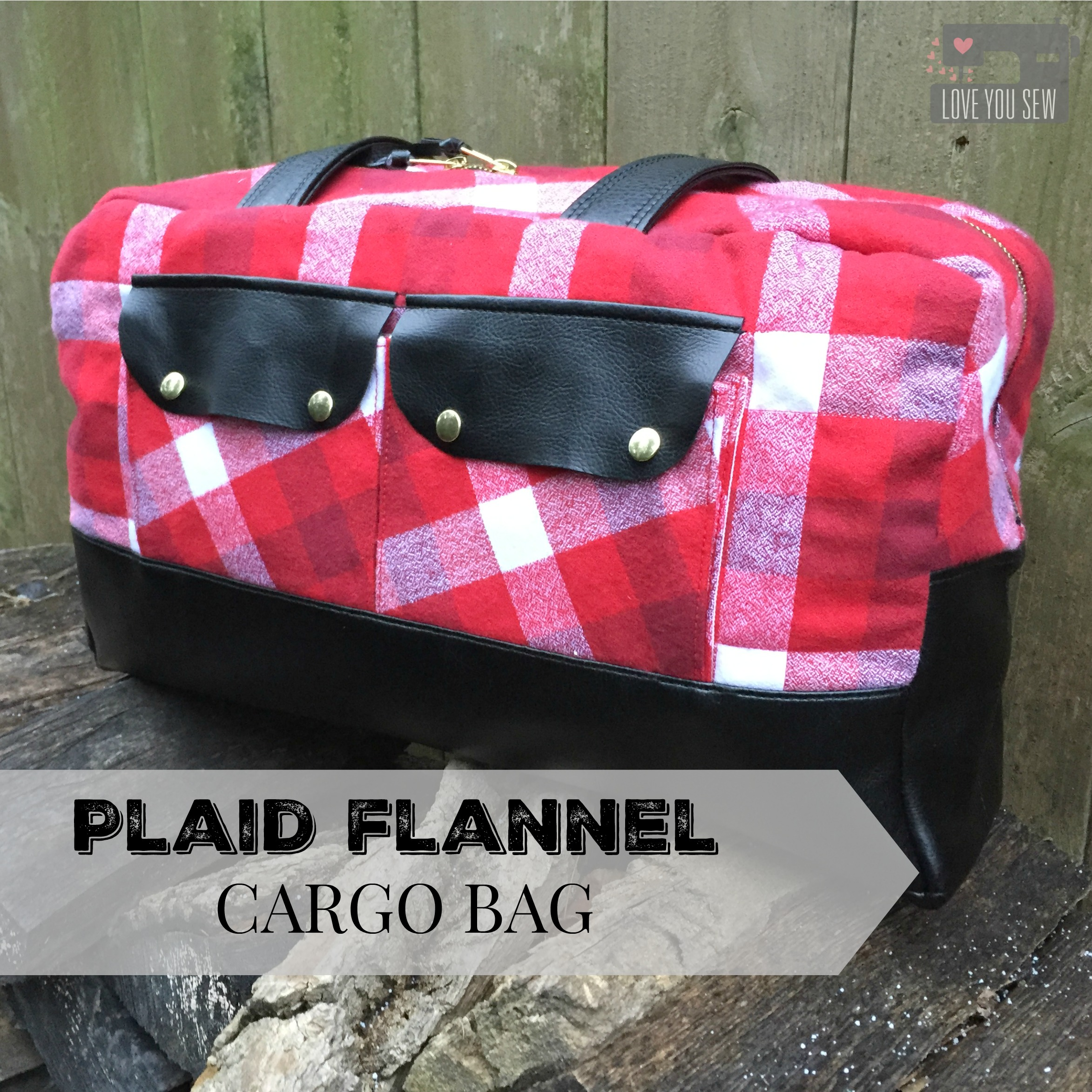 Plaid Flannel Cargo Duffle