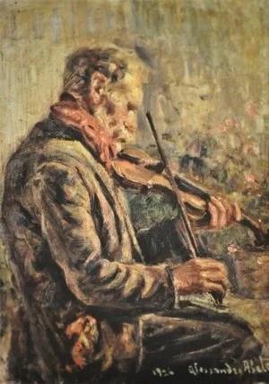 Abate_Alessandro_-_Suonatore_di_Violino_1927_-_Olio_cm_46_X_34_1