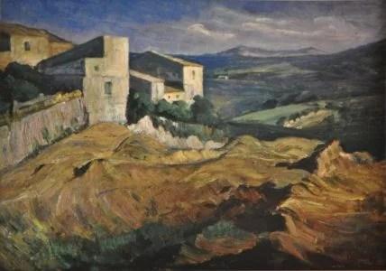 Barone_Giuseppe_-_Paesaggio_1943_-_Olio_cm_27_x_34_1