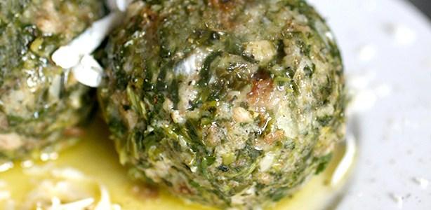 Canederli di spinaci