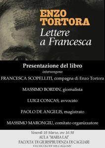 """Lettere a Francesca. Incontro a Cagliari per discutere del Caso Tortora e di """"giustizia giusta"""""""