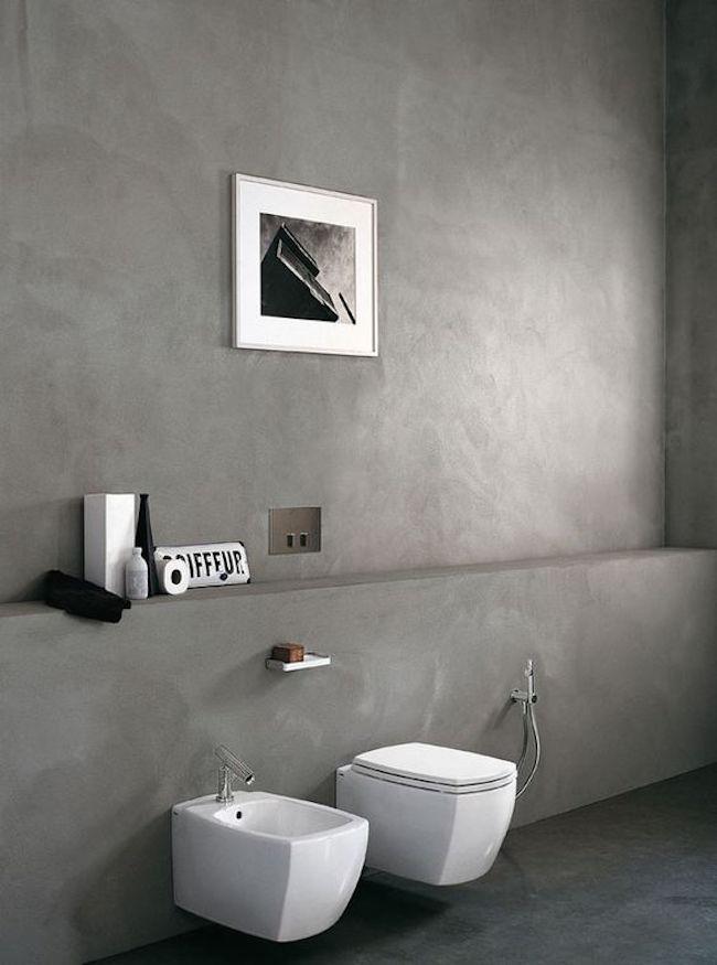 Effetto cemento pareti tendenza design  wwwilportaledellimbianchinocom