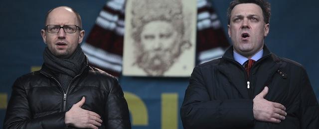 Arseniy Yatsenyuk, Oleh Tyahnybok