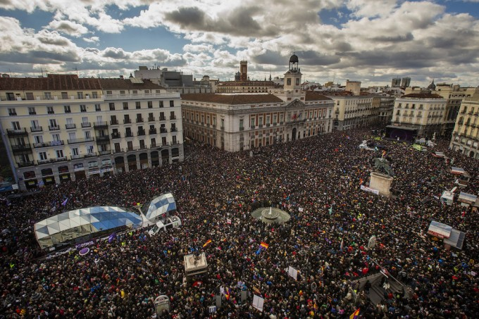 Manifestazione Podemos Madrid