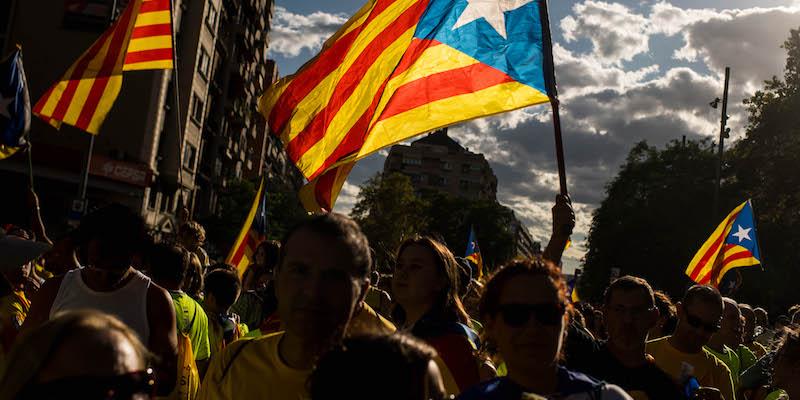 Manifestazione pro-indipendenza della Catalogna a Barcellona. Foto: David Ramos/Getty Images.
