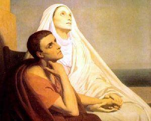 L'estasi di Ostia. Conversando riuscirono ad avere un'idea di Dio, poi lei si mise a letto e decise che poteva morire.