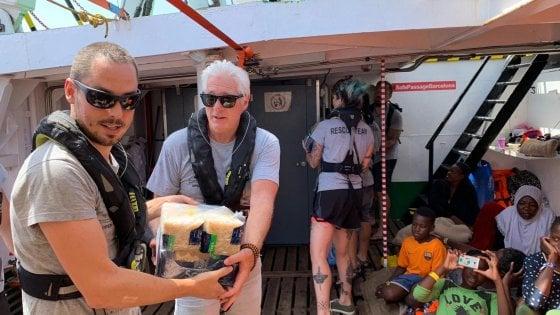 Richard Gere a bordo di Open Arms