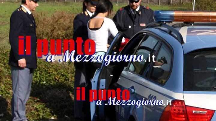 Servizi antiprostituzione della Polizia di Stato a Frosinone