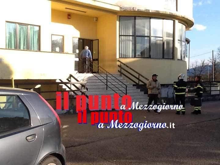 Crollo sospetto all'istituto Alberghiero di Cassino, indagini in corso