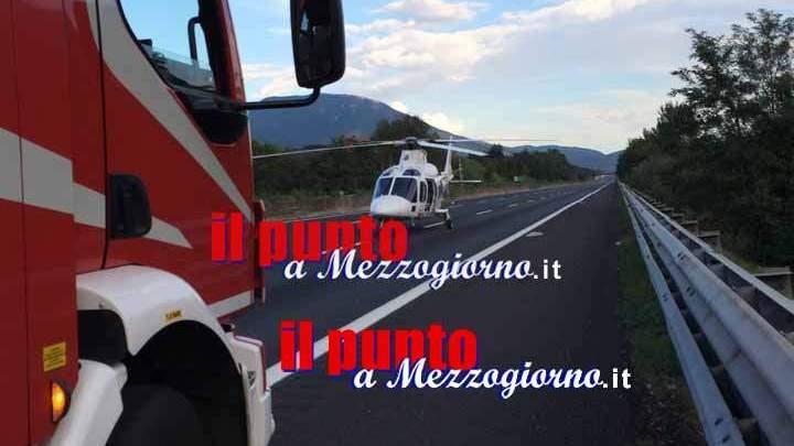 Grave incidente sull'A1 a Ferentino, carabinieri fuori servizio salvano una vita