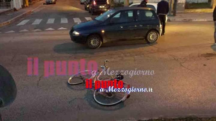 Investito in bicicletta a Cassino, 75enne fuori pericolo di vita