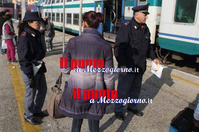 Controlli della Polizia di Stato negli scali ferroviari, segnalato un 19enne in possesso di droga