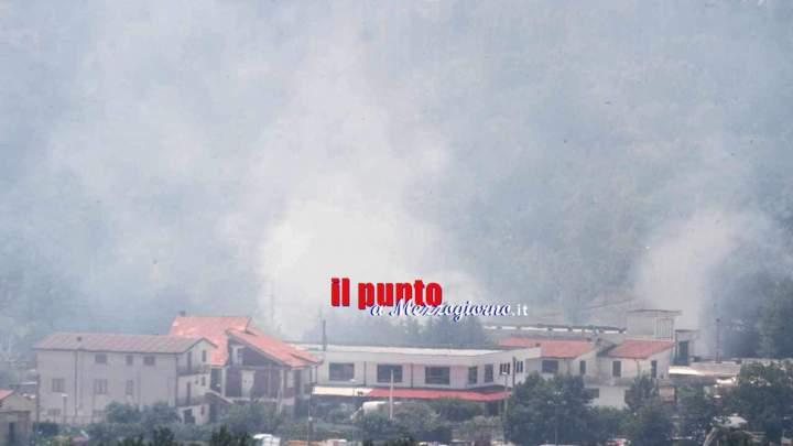 Incendio a San Pietro Infine lambisce la ferrovia