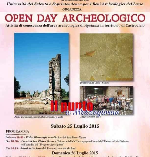 Sabato 25 e domenica 26 open day archelogico all'area di Aquinum