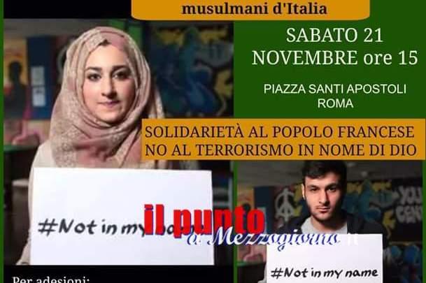 Anche il centro culturale islamico di Cassino alla manifestazione nazionale musulmani d'Italia:#NotInMyName