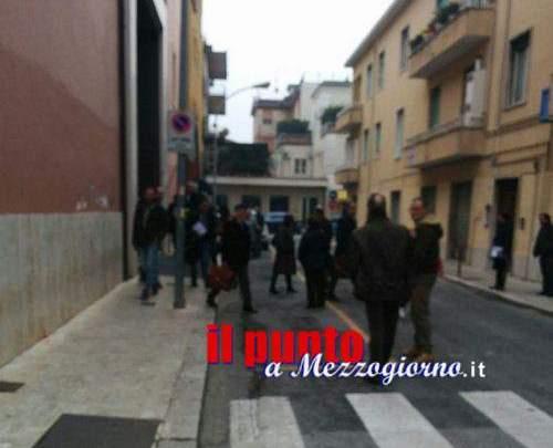 Fuga di gas in tribunale a Cassino, allarme rientrato