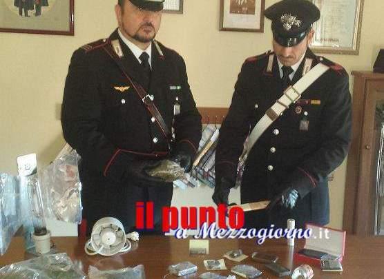 Coppia dello spaccio in manette a Cassino, sequestrati 8 etti tra coca, hashish e marijuana
