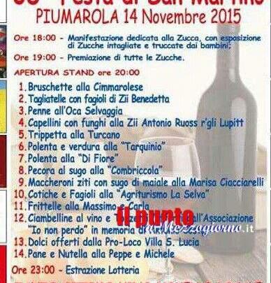 Tutto pronto a Piumarola per la 38esima edizione della sagra di San Martino
