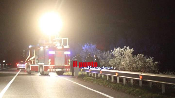 Incidente sulla Venafrana, veicolo nell'uliveto