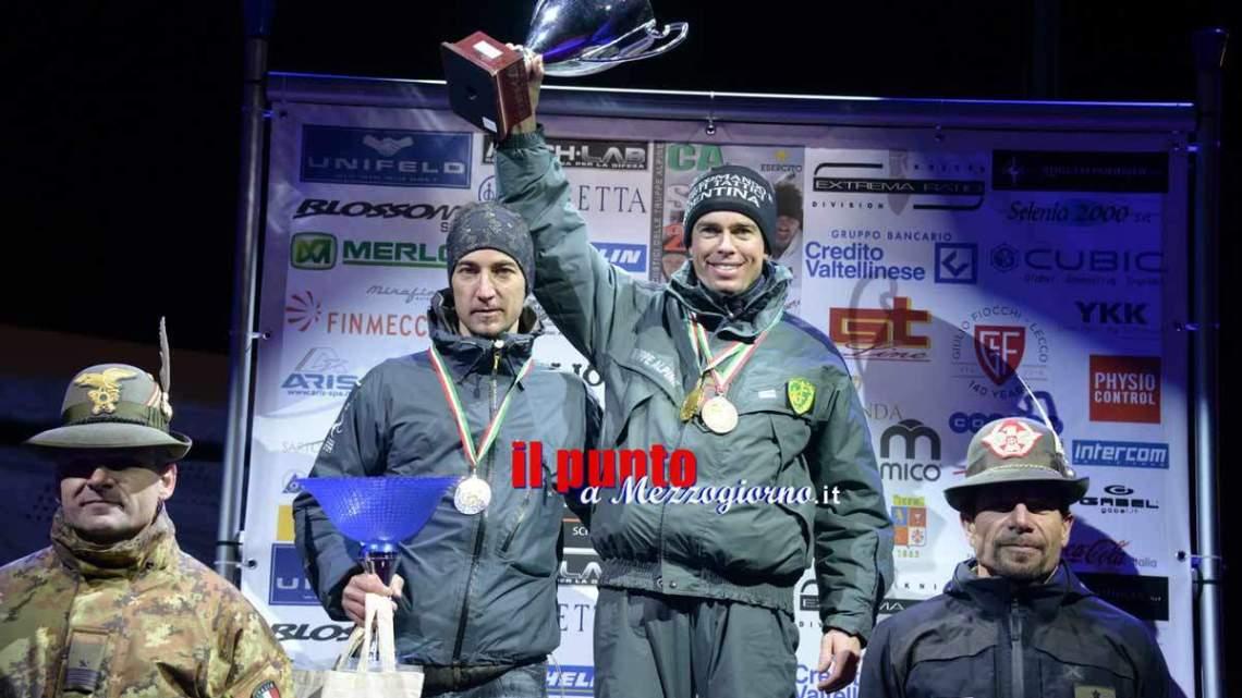 Gli atleti del centro sportivo esercito protagonisti a Sestriere. Si impongono nella notturna di sci alpinismo