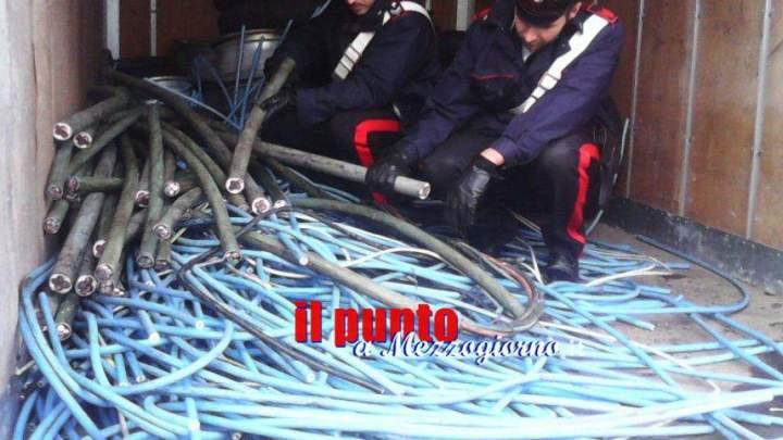 Tre ladri di rame arrestati dai carabinieri ad Ariccia, recuperata mezza tonnellata di materiale