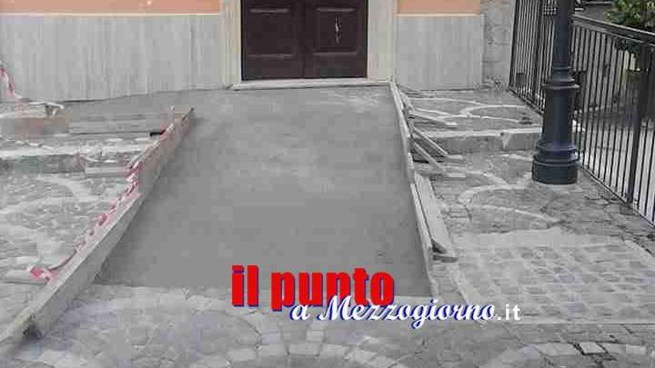 Scivolo per disabili della chiesa non a norma, appello al sindaco di Campoli Appennino