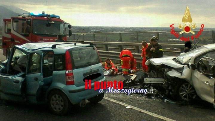 Incidente stradale frontale a Sonnino, gravi due automobilisti. Uomo elitrasportato a Roma