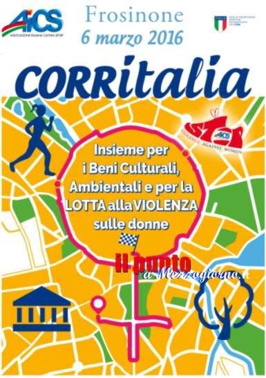 Sport e antiviolenza donne, a Frosinone c'é Corritalia