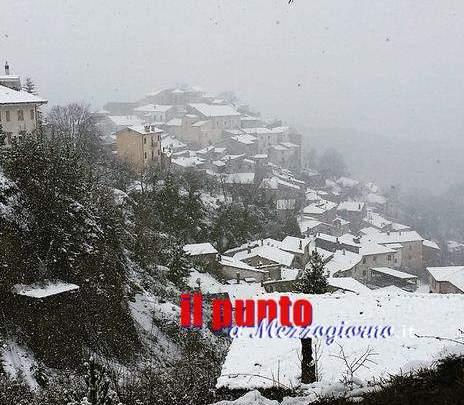 Neve a Filettino, ottimismo per la stagione sciistica a Campo Staffi