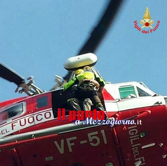 Disperso in montagna a Bassiano, 64enne recuperato dall'elicottero dei vigili del fuoco