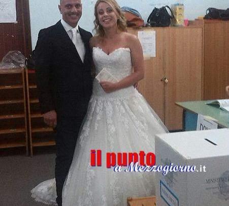 A votare in abito da sposa, sopresa ieri al seggio 31 di Cassino