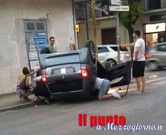 Raffica di incidenti stradali a Cassino in pochi minuti