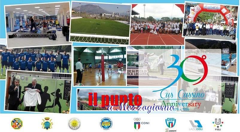 Il Cus Cassino festeggia 30 anni di attività