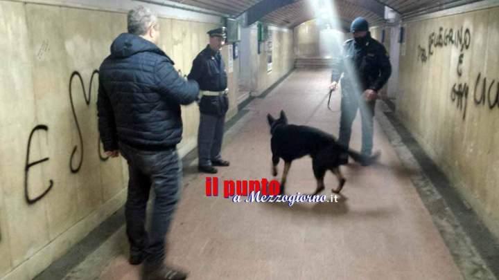 Scuole e stazione ferroviaria di Cassino passate al setaccio dalla polizia, denunciata 19enne – LE FOTO