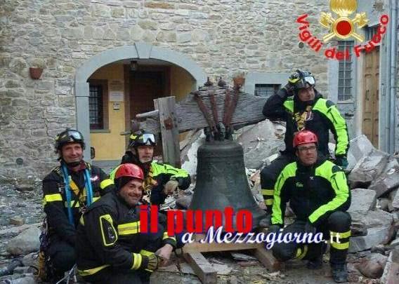 Amatrice, recuperata la campana della torre del museo civico