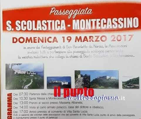 Da Santa Scolastica a Montecassino. Anche quest'anno successo per la tradizionale passeggiata